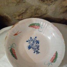 Antiquités: ANTIGUO PLATO MANISES CERÁMICA SIGLO XIX. Lote 157871309