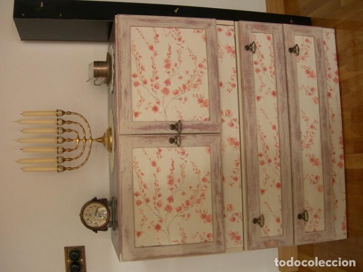 Antigüedades: Cajonera aparador mueble auxiliar vintage licorera - Foto 2 - 157881794