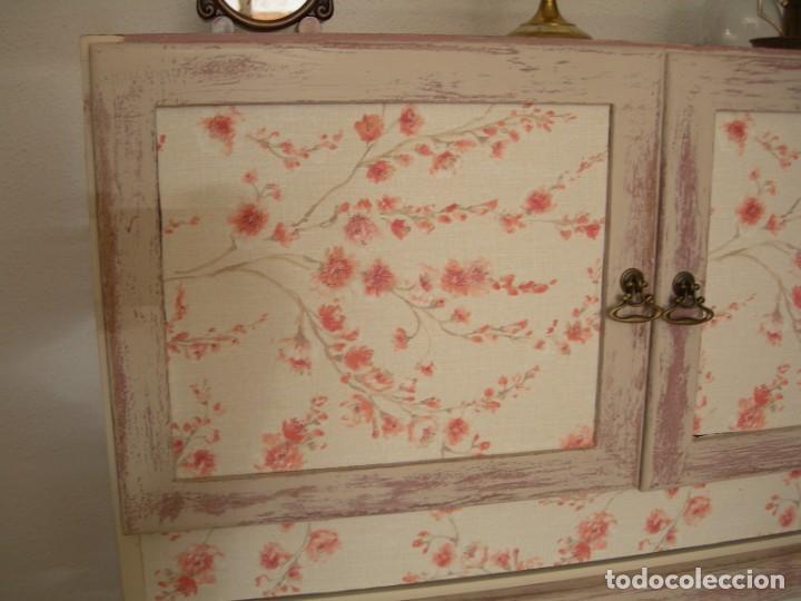 Antigüedades: Cajonera aparador mueble auxiliar vintage licorera - Foto 4 - 157881794