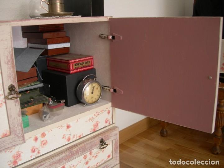 Antigüedades: Cajonera aparador mueble auxiliar vintage licorera - Foto 5 - 157881794