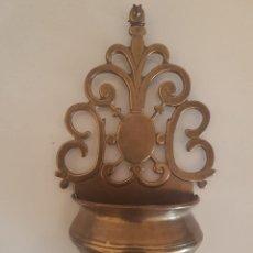 Antigüedades: BENDITERA BRONCE. Lote 157895730