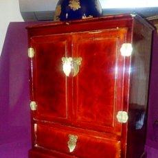 Antigüedades: JOYERO. CAJA CHINA DE MADERA LACADA.. Lote 153946570