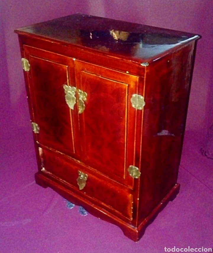 Antigüedades: Joyero. Caja china de madera lacada. - Foto 2 - 153946570
