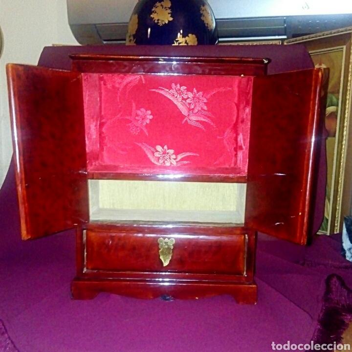 Antigüedades: Joyero. Caja china de madera lacada. - Foto 6 - 153946570