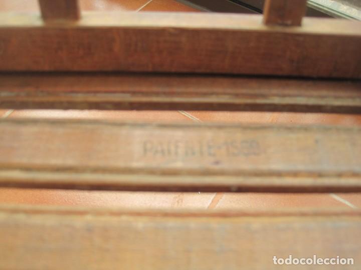 Antigüedades: antigua silla de niño plegable en madera - Foto 2 - 157940394