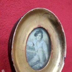 Antigüedades: ANTIGUO MARCO DE MADERA CON PAN DE ORO. Lote 157941646