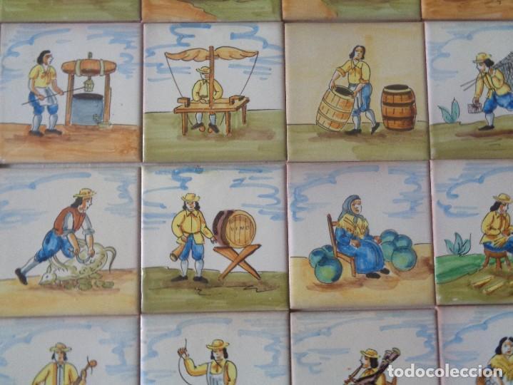 Antigüedades: TREINTA Y CUATRO AZULEJOS DE OFICIOS DIFERENTES ,11 X 11 CTMS. ONDA - Foto 3 - 157963310