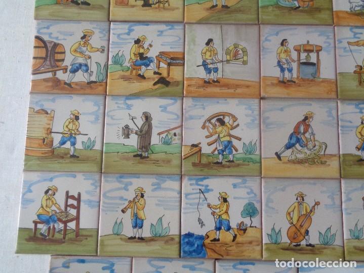 Antigüedades: TREINTA Y CUATRO AZULEJOS DE OFICIOS DIFERENTES ,11 X 11 CTMS. ONDA - Foto 5 - 157963310