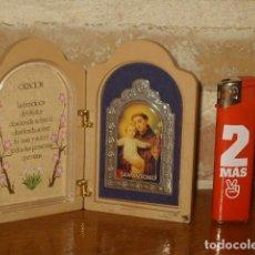Oggetti Antichi: SAN ANTONIO,CUADRITO DE MESA,ORACION.. Lote 157965326