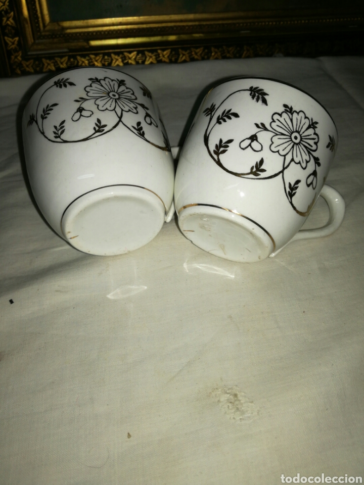 Antigüedades: Pareja de tazas de porcelana - Foto 4 - 157966690