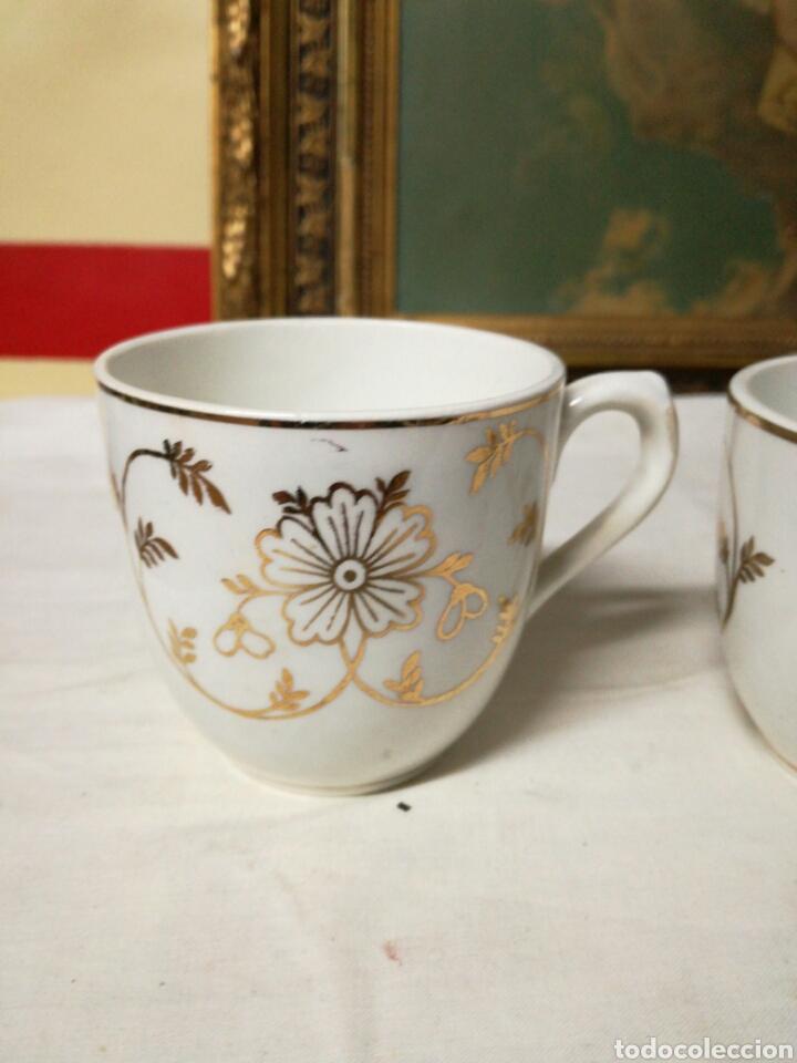 Antigüedades: Pareja de tazas de porcelana - Foto 5 - 157966690