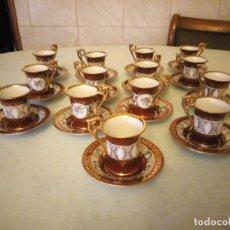 Antigüedades: JUEGO DE CAFE PORCELANA KAHLA MADE IN GDR.28 PIEZAS.. Lote 157970126