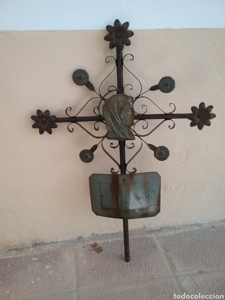 ANTIGUA CRUZ..FORJA (Antigüedades - Religiosas - Cruces Antiguas)