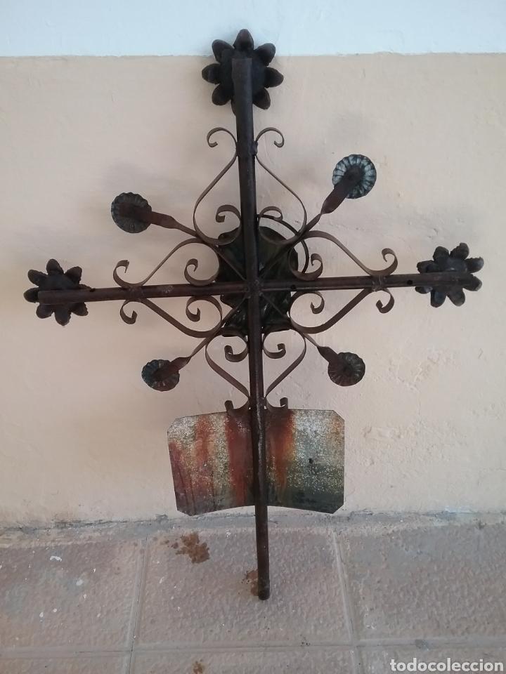 Antigüedades: Antigua cruz..forja - Foto 3 - 157971750