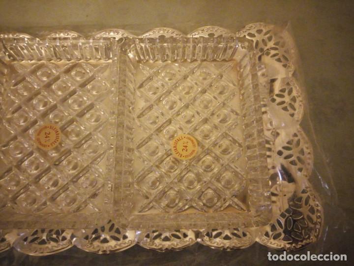 Antigüedades: Antiguo set de aperitivos vorsicht glas kabarett, bavaria made in west gwemany - Foto 4 - 157979286