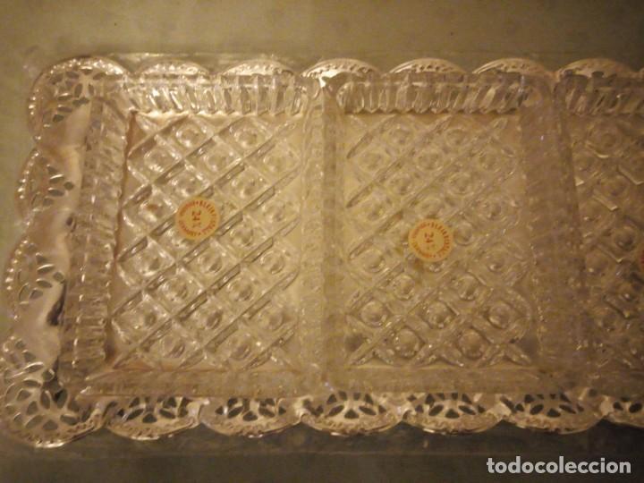 Antigüedades: Antiguo set de aperitivos vorsicht glas kabarett, bavaria made in west gwemany - Foto 5 - 157979286
