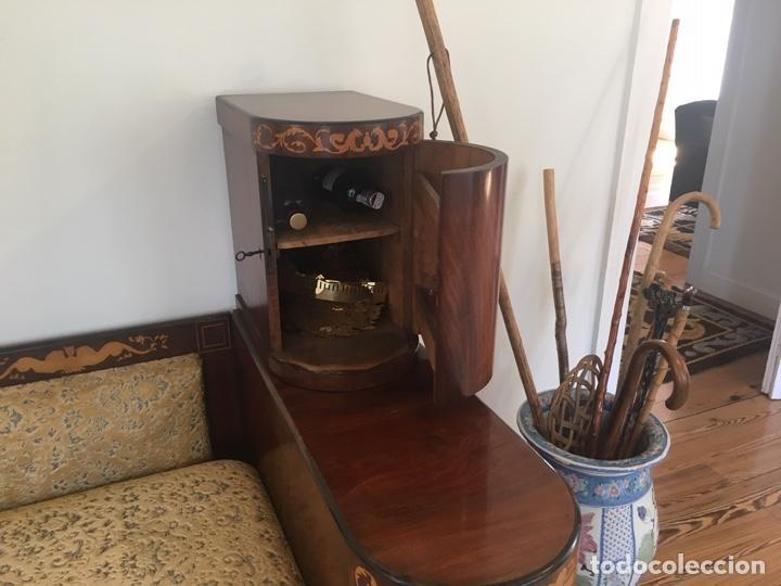 Antigüedades: Sofa epoca Fernandina con con cajones laterales - Foto 4 - 157980778