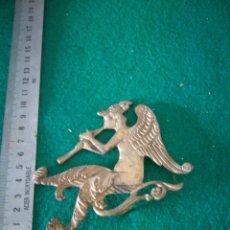 Antigüedades: REMATE DE BRONCE PARA ESPEJO. Lote 158005873