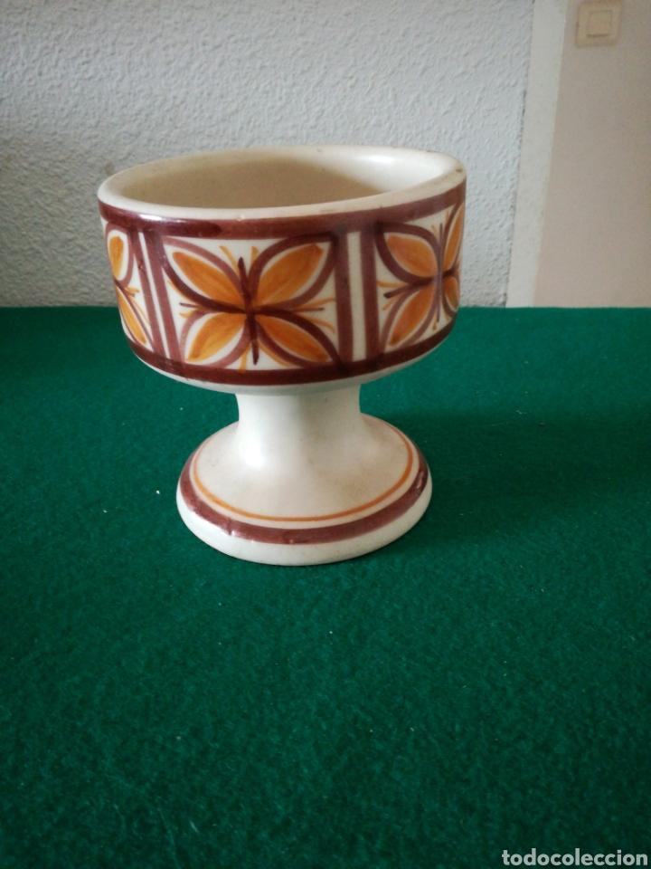 PORTAVELAS CERAMICA TALAVERA (Antigüedades - Porcelanas y Cerámicas - Talavera)