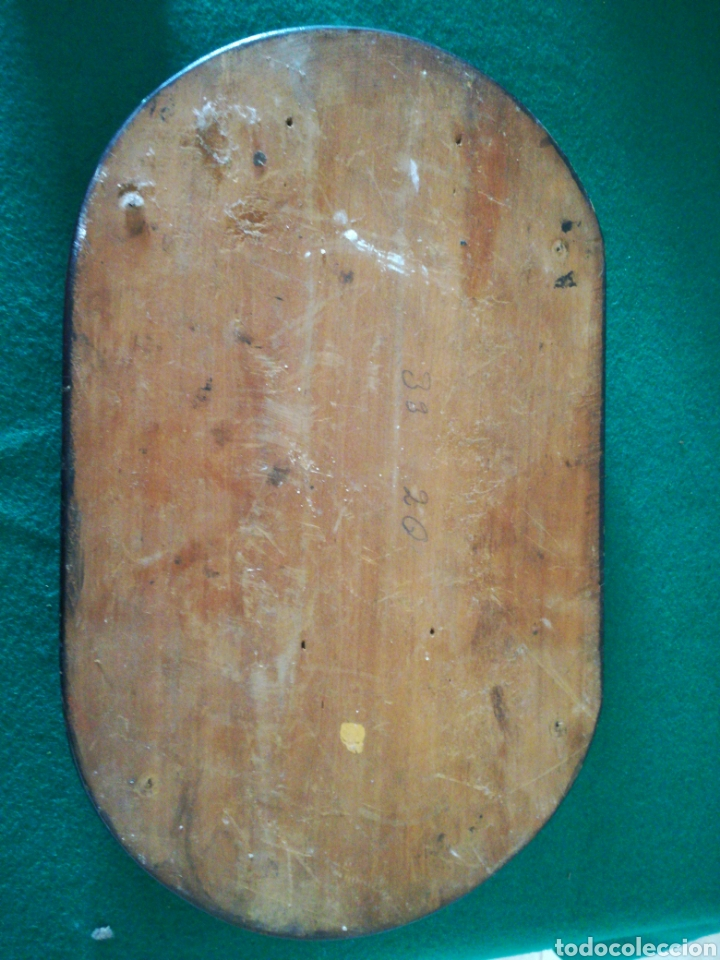 Antigüedades: BASE DE MADERA PARA FANAL - Foto 6 - 158021917
