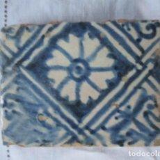 Antigüedades: AZULEJO GOTICO SIGLO XV. Lote 158063110