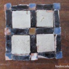 Antiquités: COMPOSICION DE AZULEJOS MUDEJARES SIGLO XVI O ANTERIORES. Lote 158069790