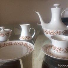 Antigüedades: JUEGO DE TÉ O CAFÉ, CON PLATOS DE POSTRE, PORCELANA BIDASOA. 12 SERVICIOS. Lote 158070108