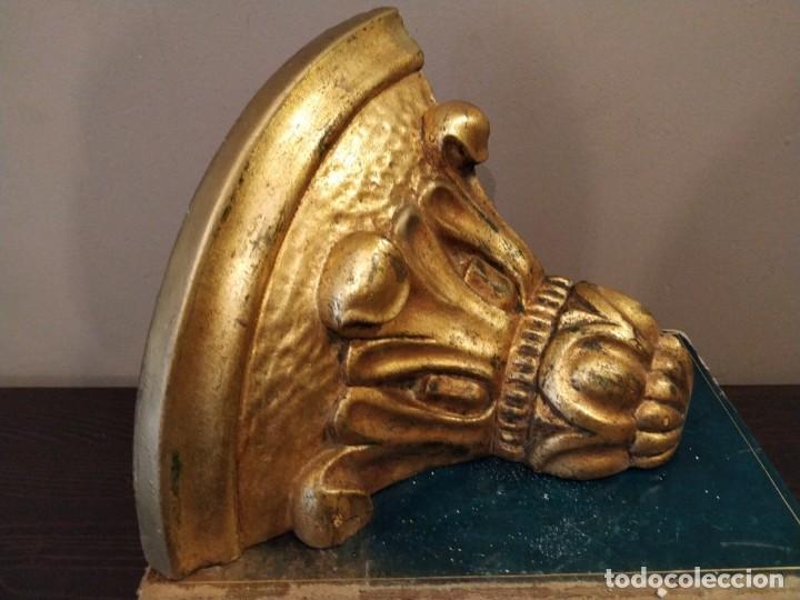 Antigüedades: MENSULA EN ESQUINA ESQUINERO EN YESO DORADO DORADA - PIGMALION BARCELONA - Foto 3 - 158146886
