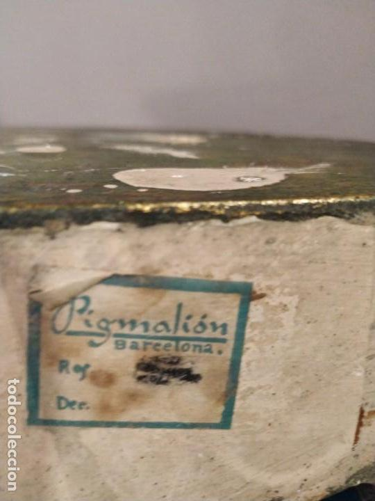 Antigüedades: MENSULA EN ESQUINA ESQUINERO EN YESO DORADO DORADA - PIGMALION BARCELONA - Foto 5 - 158146886