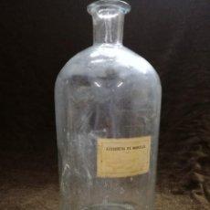 Antiquités: GRAN BOTELLA FRASCO DE CRISTAL 33 CM AZUCARERA DE MARCILLA NAVARRA.. Lote 158148926