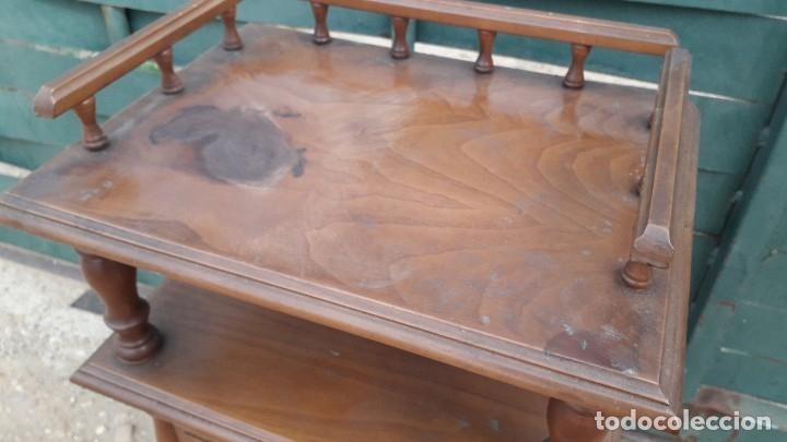 Antigüedades: Mesita auxiliar de madera maciza - Foto 4 - 158149646