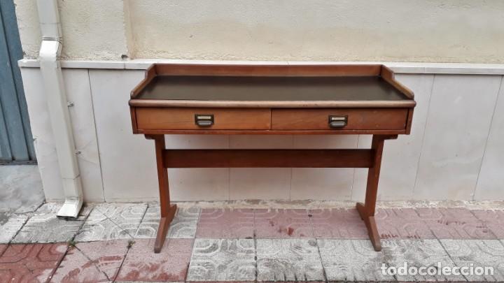 Antigüedades: Escritorio antiguo vintage estilo danés estilo industrial Mesa escritorio estilo nórdico escandinavo - Foto 2 - 158161966