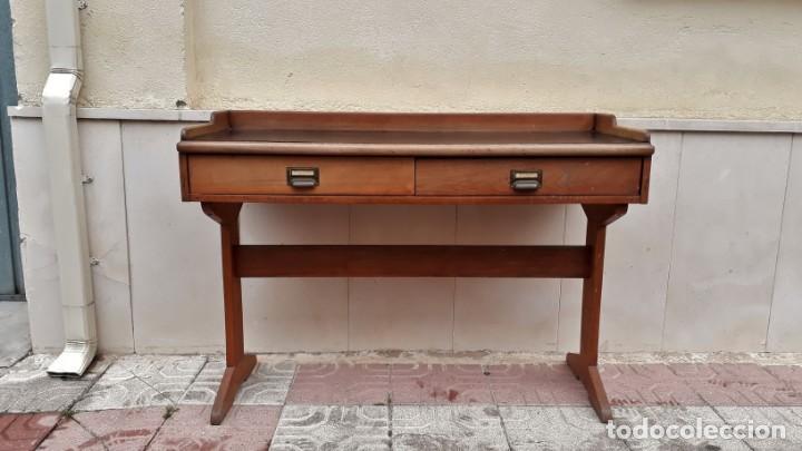 Antigüedades: Escritorio antiguo vintage estilo danés estilo industrial Mesa escritorio estilo nórdico escandinavo - Foto 3 - 158161966