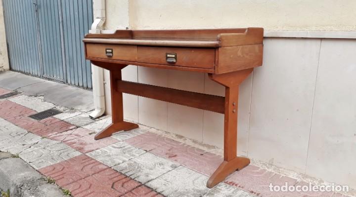 Antigüedades: Escritorio antiguo vintage estilo danés estilo industrial Mesa escritorio estilo nórdico escandinavo - Foto 5 - 158161966