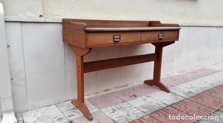 Antigüedades: Escritorio antiguo vintage estilo danés estilo industrial Mesa escritorio estilo nórdico escandinavo - Foto 6 - 158161966
