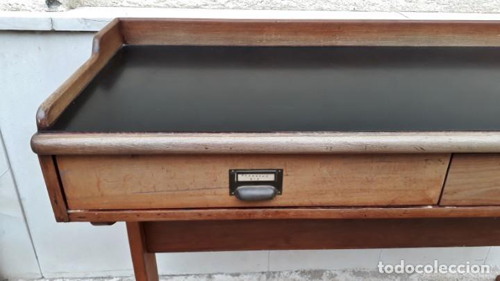 Antigüedades: Escritorio antiguo vintage estilo danés estilo industrial Mesa escritorio estilo nórdico escandinavo - Foto 9 - 158161966