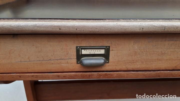 Antigüedades: Escritorio antiguo vintage estilo danés estilo industrial Mesa escritorio estilo nórdico escandinavo - Foto 10 - 158161966