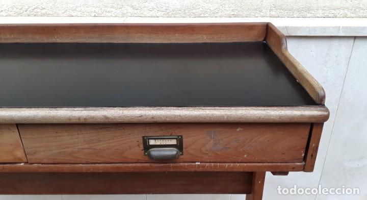Antigüedades: Escritorio antiguo vintage estilo danés estilo industrial Mesa escritorio estilo nórdico escandinavo - Foto 15 - 158161966