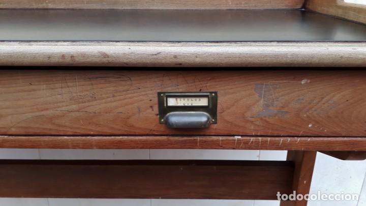 Antigüedades: Escritorio antiguo vintage estilo danés estilo industrial Mesa escritorio estilo nórdico escandinavo - Foto 16 - 158161966