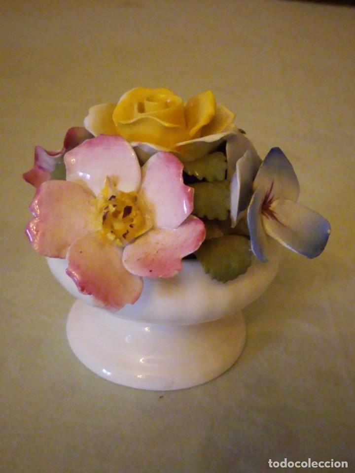 Antigüedades: Preciosa copa con flores de porcelana,staffordshire royale,abbydean england. - Foto 2 - 158184994