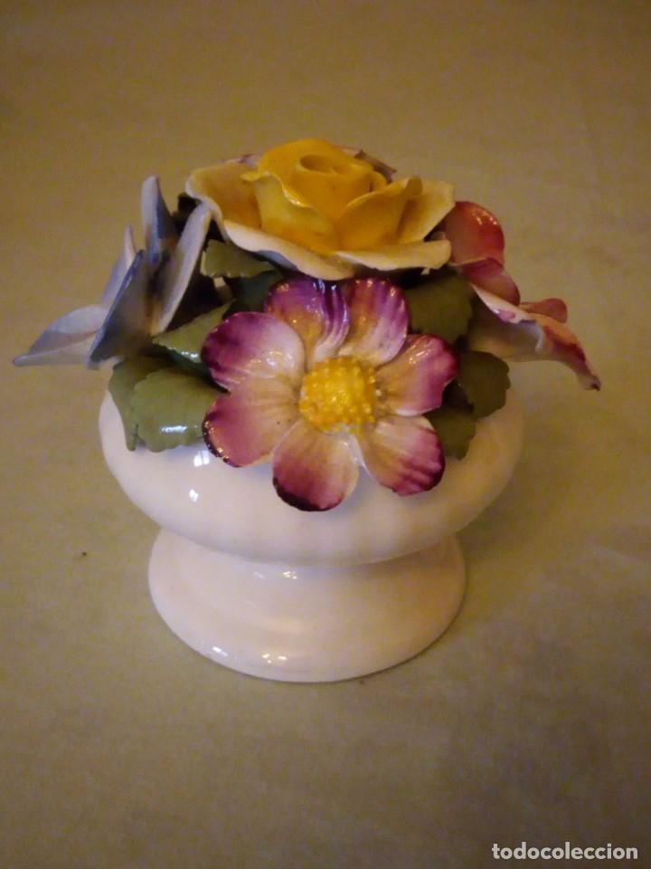 Antigüedades: Preciosa copa con flores de porcelana,staffordshire royale,abbydean england. - Foto 4 - 158184994