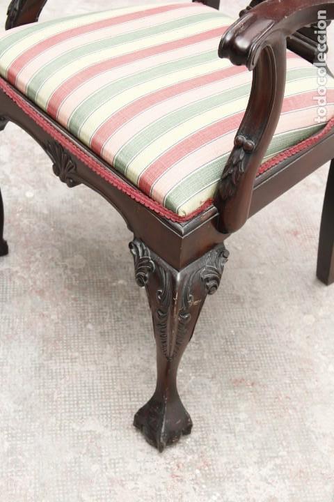 Antigüedades: Preciosa silla Chippendale - Foto 3 - 158202430