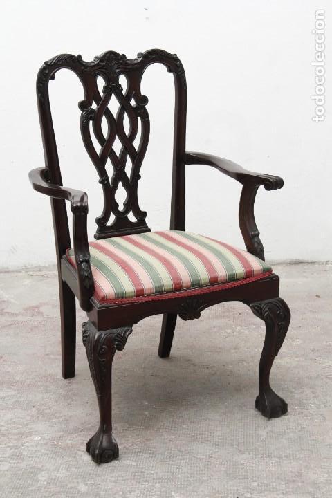 PRECIOSA SILLA CHIPPENDALE (Antigüedades - Muebles Antiguos - Sillas Antiguas)
