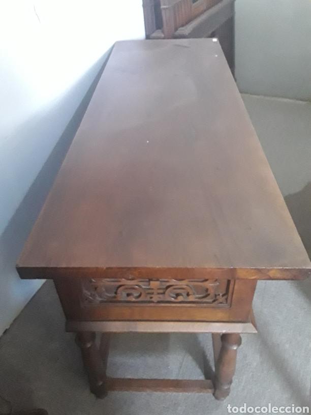 Antigüedades: Mesa aparador de nogal - Foto 2 - 158223822