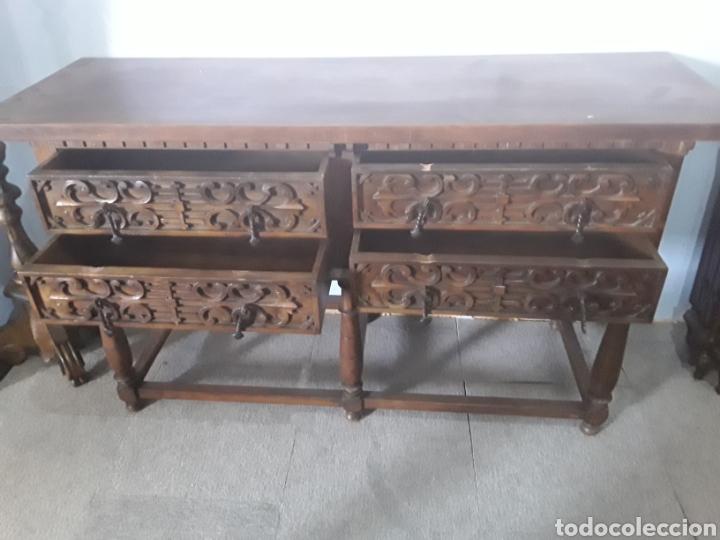 Antigüedades: Mesa aparador de nogal - Foto 4 - 158223822