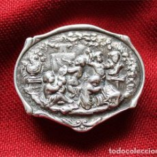 Antigüedades: ANTIGUA CAJITA DE PLATA CON CONTRASTE ESTRELLA LEY 925 MILÉSIMAS Y PUNZONADO PR . Lote 158238958