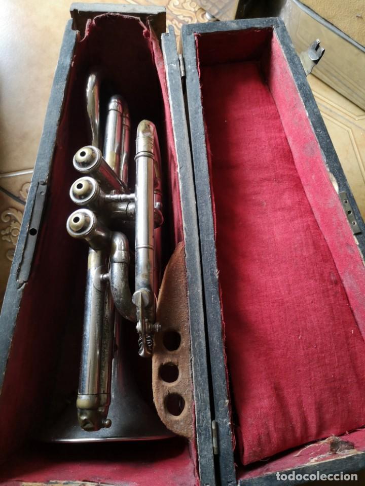 Antigüedades: Antigua trompeta couesnon & cie 1889 - Foto 2 - 158254978