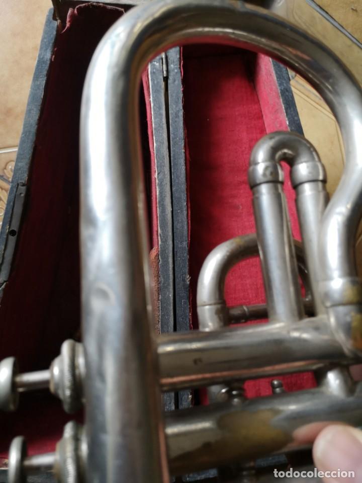 Antigüedades: Antigua trompeta couesnon & cie 1889 - Foto 3 - 158254978