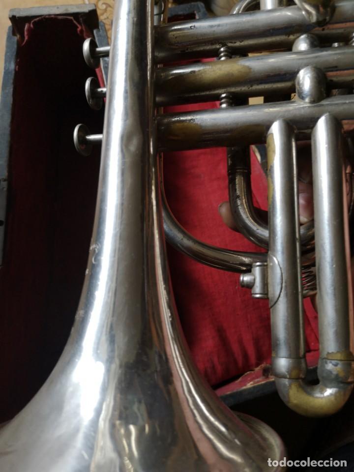 Antigüedades: Antigua trompeta couesnon & cie 1889 - Foto 5 - 158254978