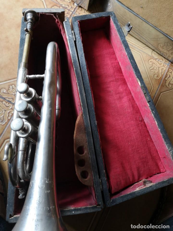 Antigüedades: Antigua trompeta couesnon & cie 1889 - Foto 7 - 158254978